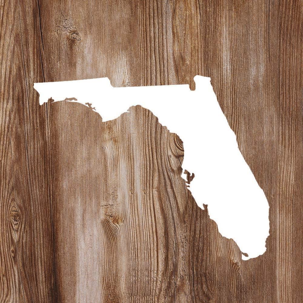 None Brand Florida FL State Outline Vinyl Sticker Graphic Bumper Tumbler Decal for Vehicles Car Truck Windows Laptop MacBook Phone Wall Door