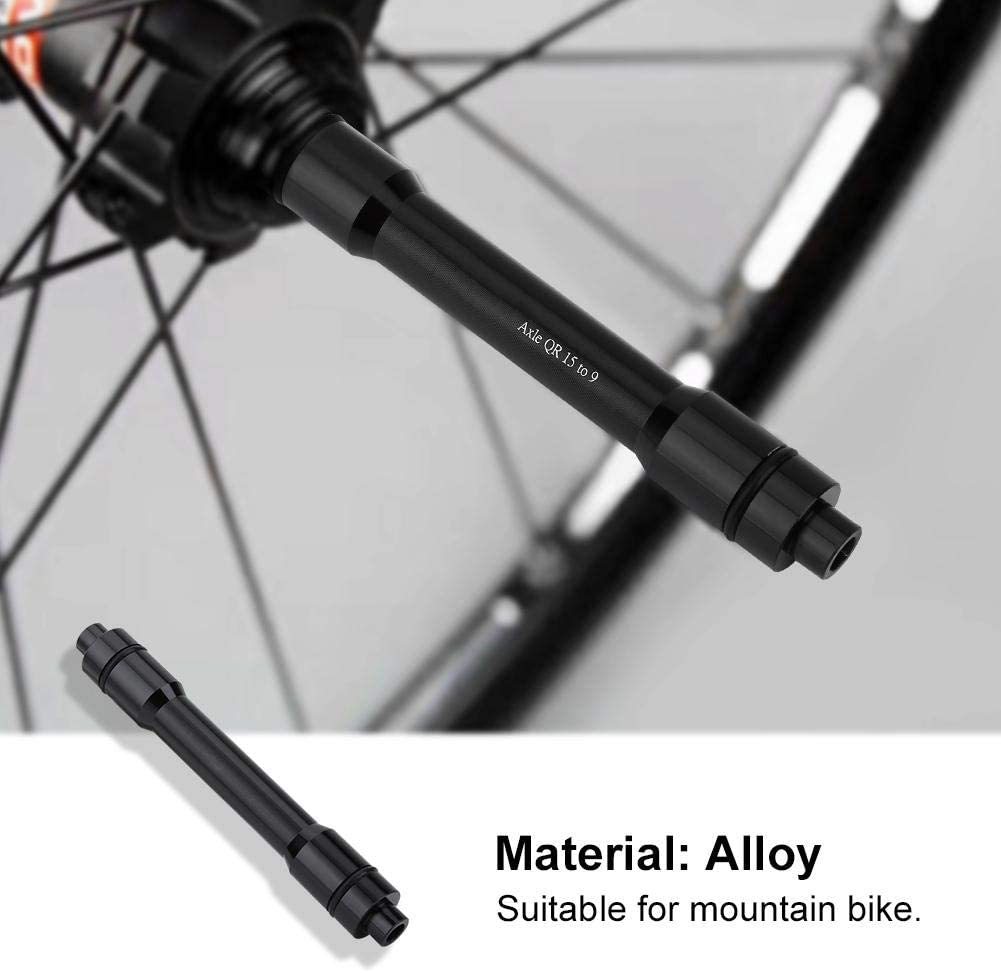 Liukouu Black Hub Conversion Kit, 15mm to 9mm Tube Shaft Adapter, Cycling Enthusiasts for Bike for Bicycle Adapter Tool