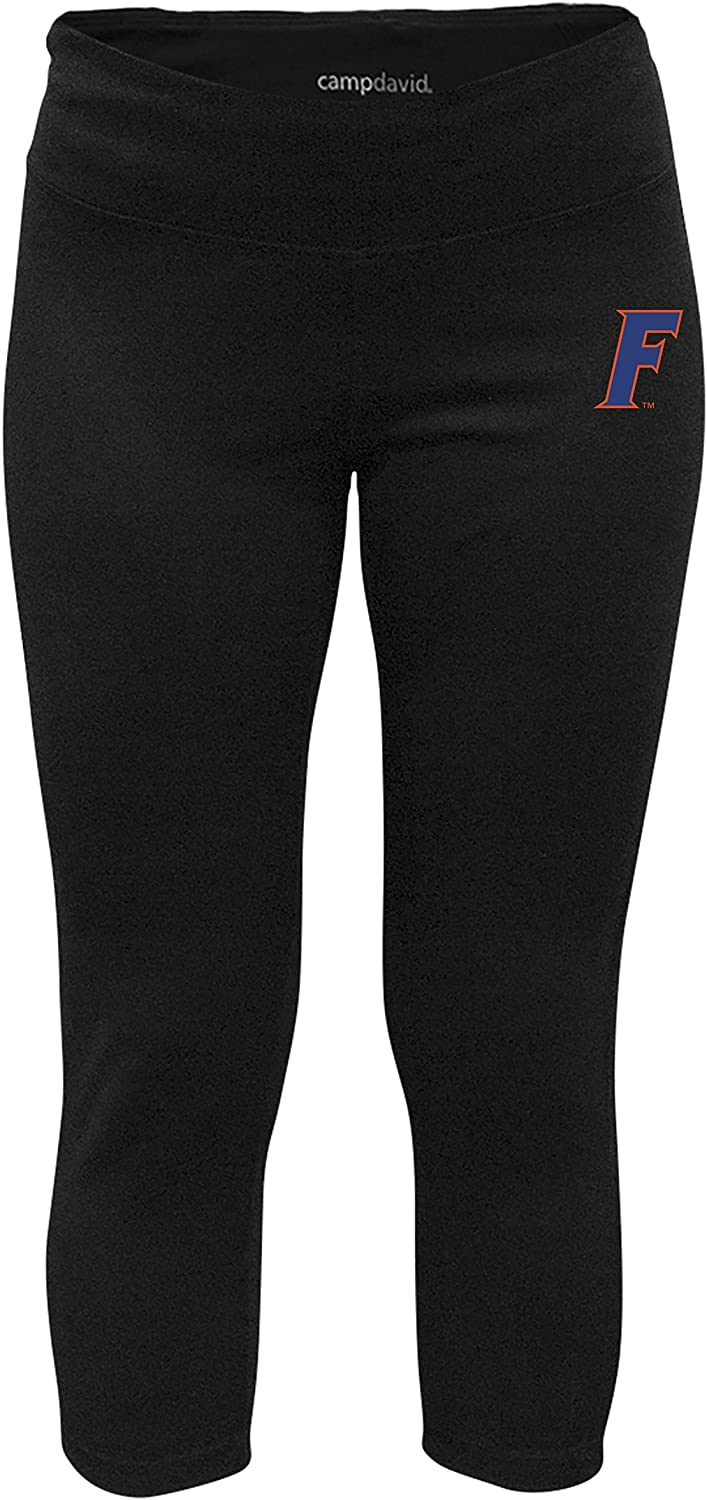 NCAA Crosstown Women's Cropped Active Lifestyle Pant, Florida Gators, Black, Small