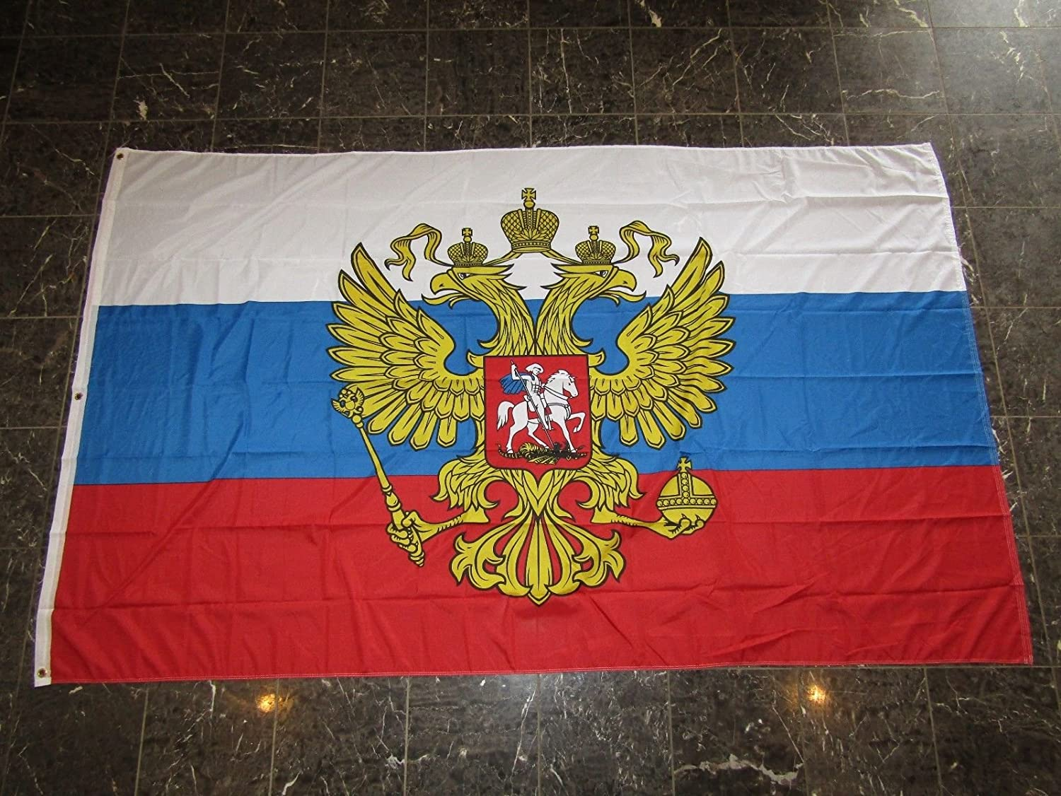 AES 5x8 ft Russia Russian Presidential Flag Rough Tex Knitted 5'x8' Banner