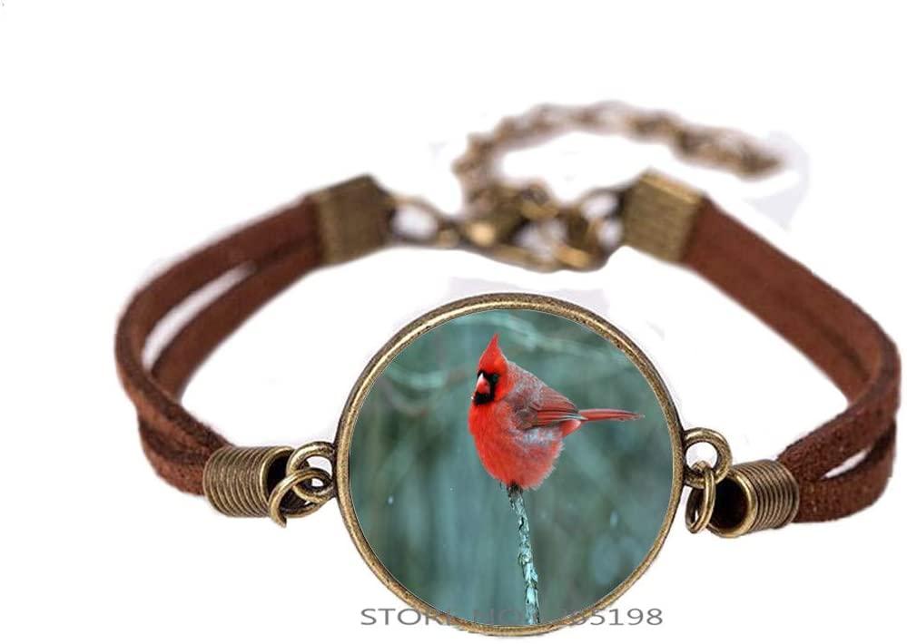 Redbird Collage Bracelet, Redbird Bracelet, Redbird Bangle, Cardinal Jewelry, Cardinal Bangle, Cardinal Bracelet,N181