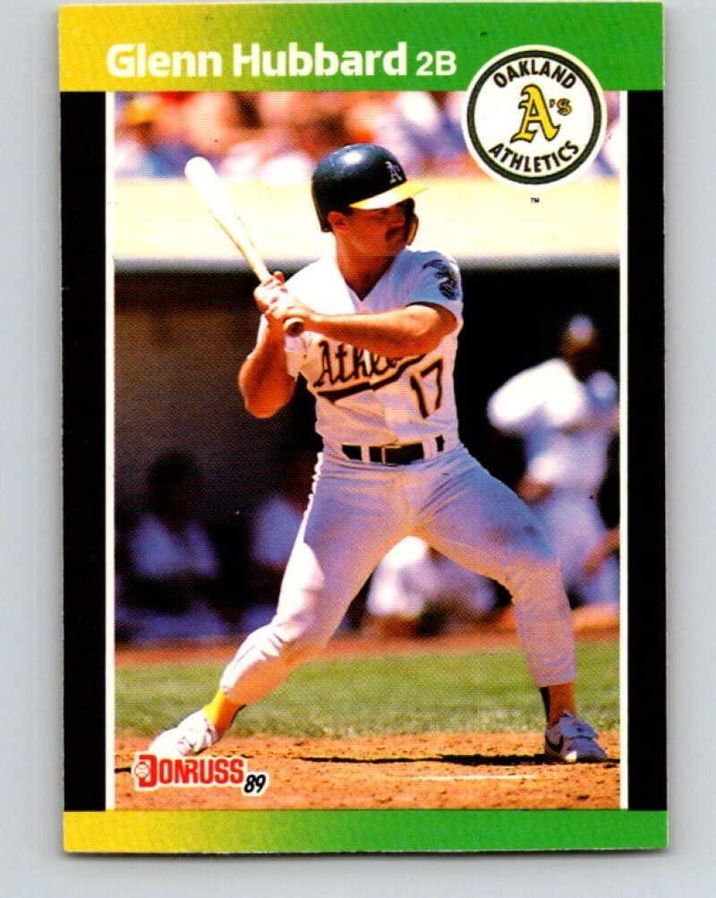 1989 Donruss #568 Glenn Hubbard DP Mint Baseball MLB Athletics