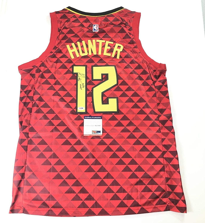 De'Andre Hunter Signed Jersey Atlanta Hawks Autographed Virginia - PSA/DNA Certified - Autographed NBA Jerseys