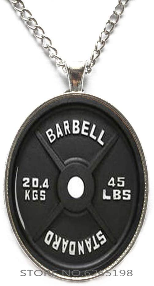 Barbell Necklace,Weight Necklace,Barbell Charm,Weight Charm,Sports Charm,Sports Gift, Dumbbell Jewelry,Weightlifter Gifts,N076