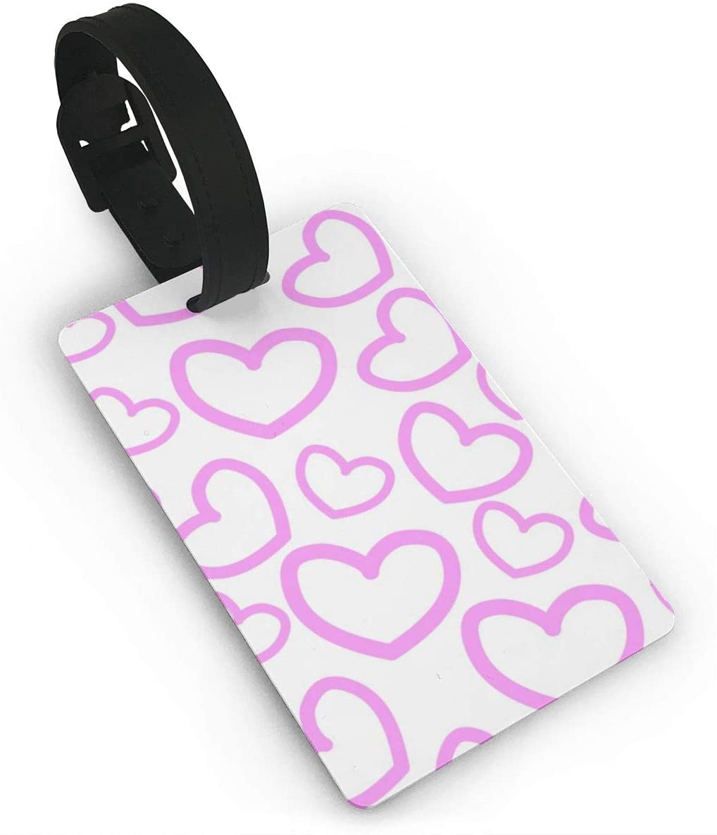 Field Rain Shooter Heart Fashion Luggage Tag PVC Travel ID Suitcases Label For Bag