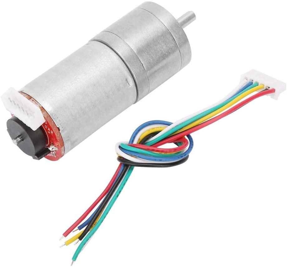 DC 12V Encoder Gear Motor - Speed Reduction Motor for Robot Car/Smart Home Appliance (500RPM)