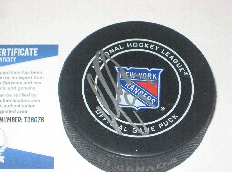 Autographed Mika Zibanejad Hockey Puck - Official w Beckett COA - Beckett Authentication - Autographed NHL Pucks