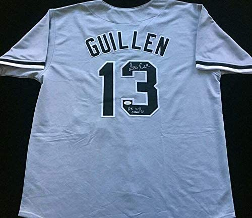 Autographed Ozzie Guillen Jersey - Gray 05 WS CHAMPS COA Great - JSA Certified - Autographed MLB Jerseys