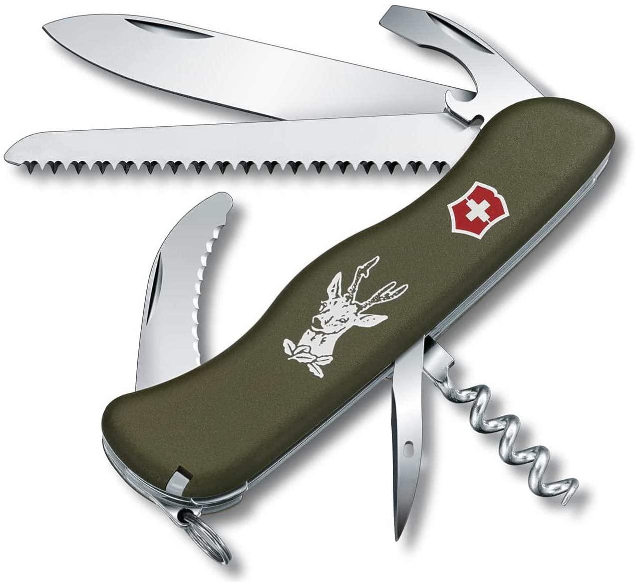 Victorinox Hunter Green Olive - Swiss Army Pocket Knife 111 mm - 12 Tools