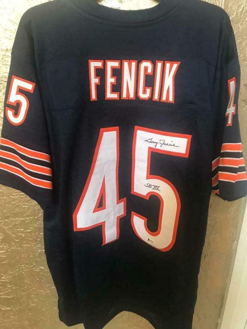 Gary Fencik Autographed Jersey - #45 Super Bowl Xx Xl Beckett P57255 - Beckett Authentication - Autographed NFL Jerseys