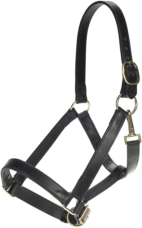 Weaver Leather Draft Horse Halter - Color:Black Size:Average Draft
