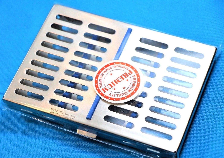 New German Dental Instrument Sterilization Cassettes Holders Rack Tray Box for 10 Instruments Sterilization Autoclave