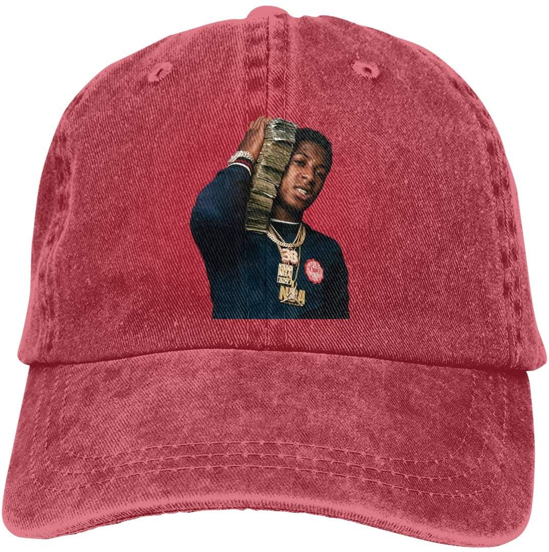 IASIFD Never Broke Again Unisex Flex-fit Hat Hip Hop Baseball Cap Sun Hat Outdoor Cap Red