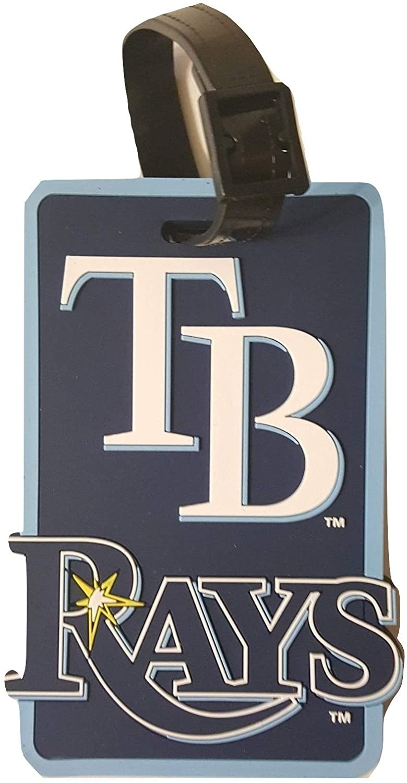 aminco MLB Tampa Bay Rays Soft Luggage Bag Tag, Team Color