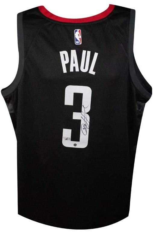 Chris Paul Autographed Houston Rockets Black Nike Swingman Basketball Jersey - Fanatics