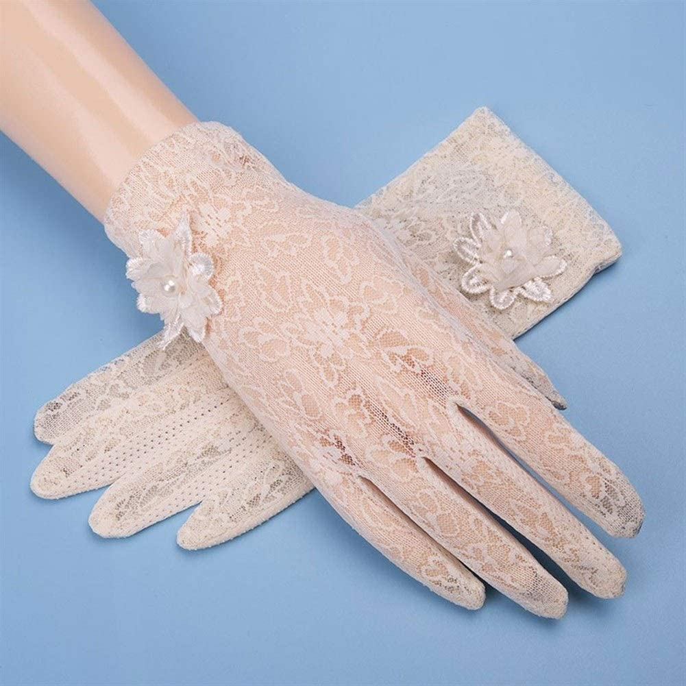 New 2019 China Fashion Creative Sunscreen Gloves Womens Thin Summer Short Touch Screen Lace Driving Anti-UV UV Gloves Ice Silk Sleeve