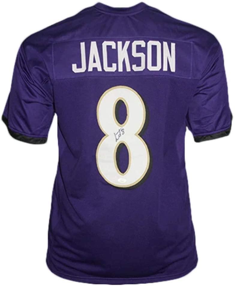 Lamar Jackson Autographed Football Jersey - Baltimore Purple Custom - Hand Signed & JSA Authenticated