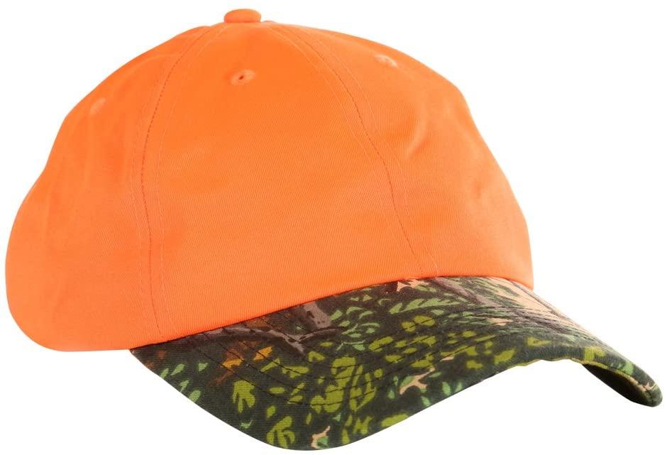 Bushlan Safety Orange Camo Cap