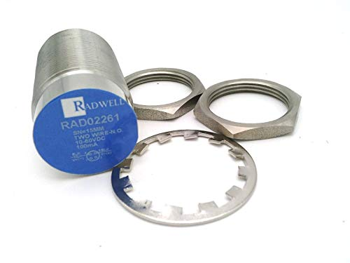 RADWELL VERIFIED SUBSTITUTE 871TM-DH15NE30-D4-SUB M12 Q/D (3 and 4) PUR, 1-PC Stainless Steel Body & FACE, UNSHIELDED, 15MM Range, 2-Wire DC, Replacement of Allen Bradley 871TM-DH15NE30-D4, PROXIM
