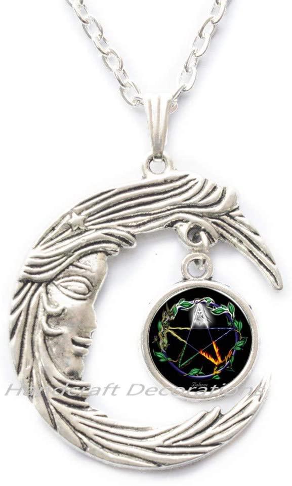 HandcraftDecorations Pentagram Necklace,Pentagram Jewellery,Pentacle Necklace,Gift,Star Necklace,Simple Star Necklace,Necklace Gift for her.F134