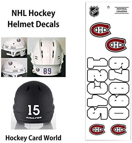 Montreal Canadiens (WHITE) NHL Hockey Helmet Decals Sticker Sheet