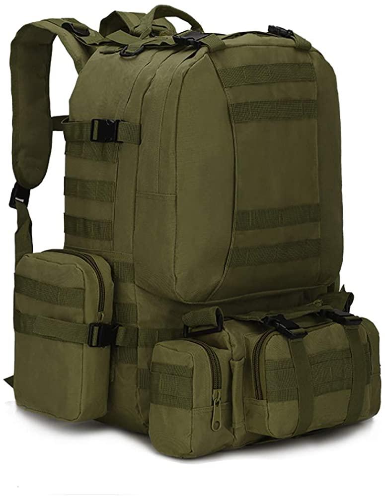 Camping Backpack for Men 55L Detachable Hiking Daypacks Travel Rucksack 3 day Pack
