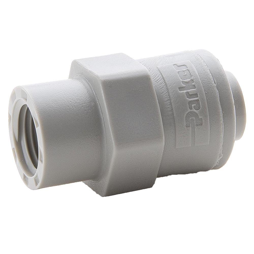 Parker A8FC6-MG Push-to-Connect All Plastic FDA Compliant Fitting, True Seal, Tube to Female Pipe, Acetal, Push-to-Connect and Female Pipe Connector, 1/2 and 3/8