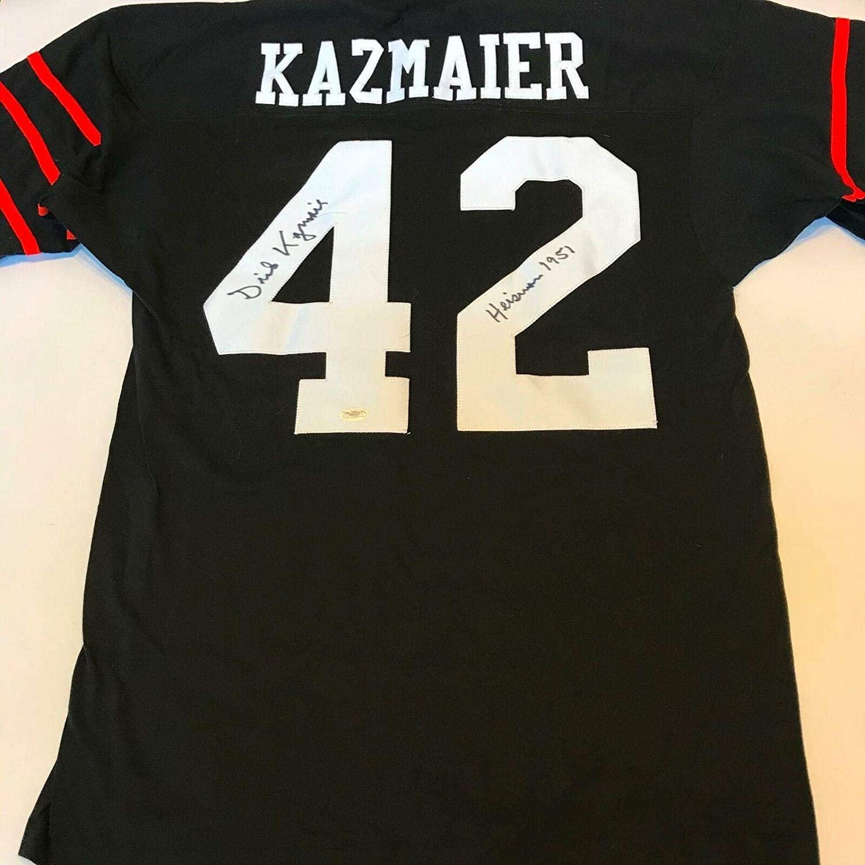Dick Kazmaier Signed Jersey - 1951 Heisman Trophy Winner Inscribed - JSA Certified - Autographed College Jerseys