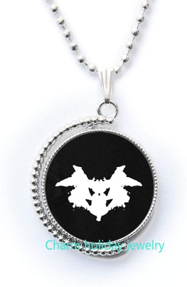 Inkblot Necklace,Psychology Necklace,Charm Necklace,Inkblot Necklace,Psychology Gift, Bridesmaid Jewelry-#179