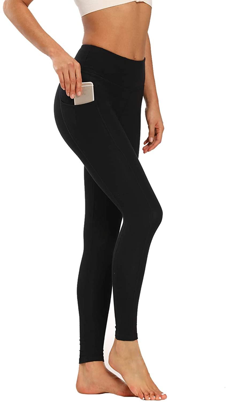 Houmous Women's High Waist Yoga Pants Workout Pants 7/8 Length Leggings with Pocket