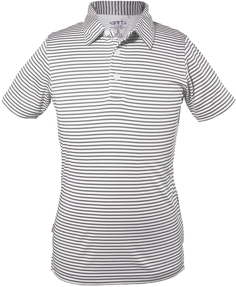 Garb Boys Junior Carson Striped Golf Performance Polo Small (5-6)