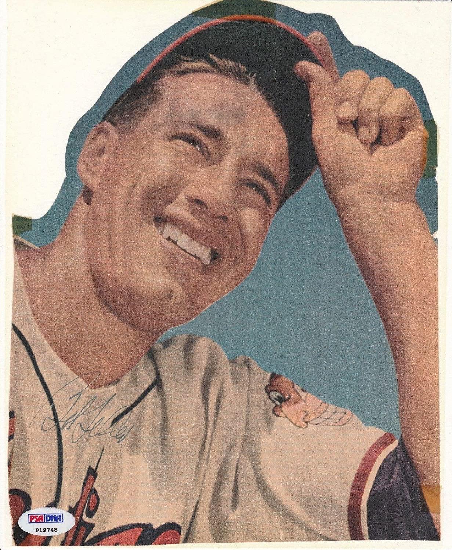 Bob Feller Signed Cleveland Indians Baseball Magazine Cut *HOF P19748 - PSA/DNA Certified - Autographed MLB Magazines