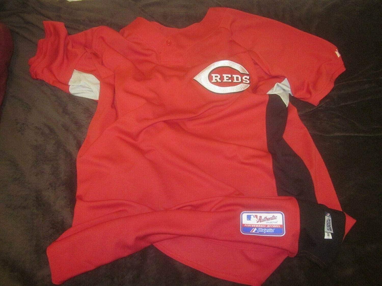Cincinnati Reds Game Used Road Jersey Coach #48 Tony Fossas - MLB Game Used Jerseys