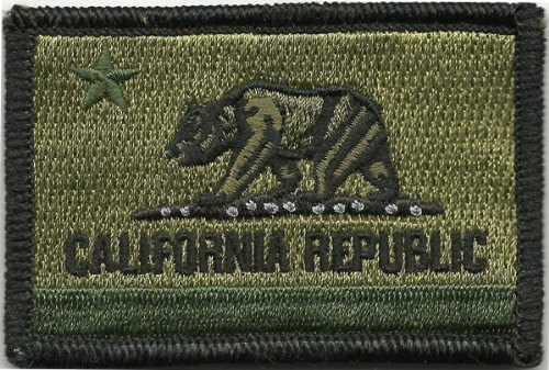 California Tactical Patch - Olive Drab