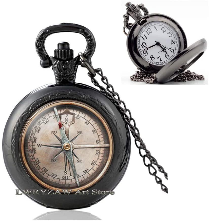Nautical Jewelry,Nautical Pocket Watch Necklace,Nautical Compass,Compass Pocket Watch Necklace,Minimalist,Friendship Jewelry,M339