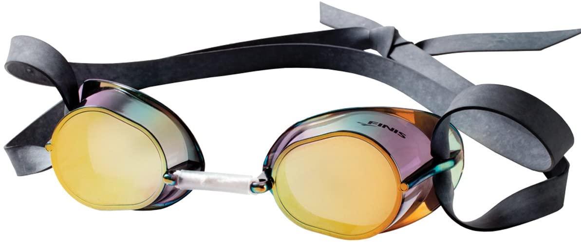 Santa Superstore Finis Dart Swim Goggles - Gold/Mirror