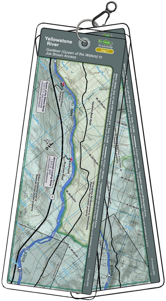 Troutmap Yellowstone River Map Bundle - Montana, 3 Map Sets