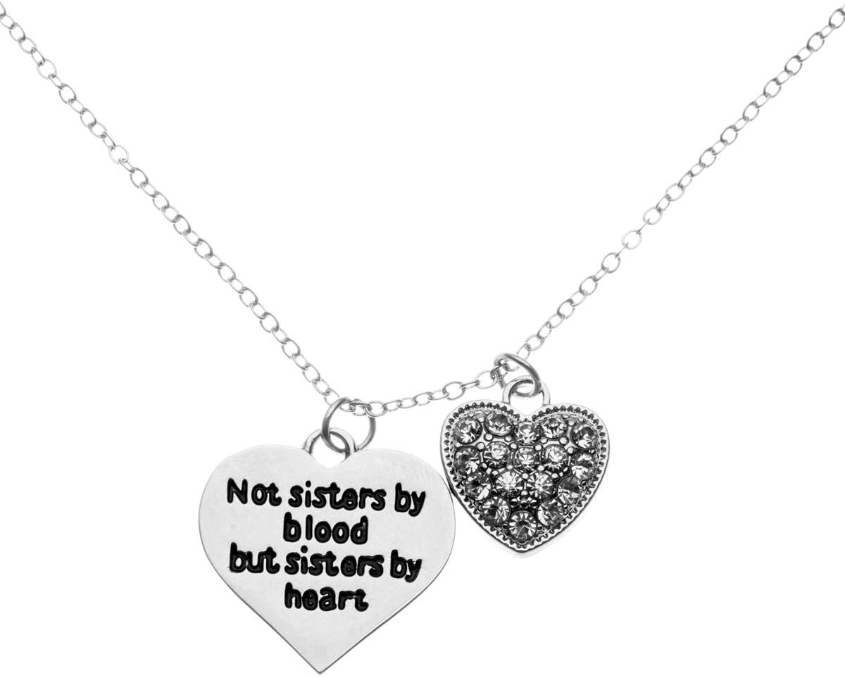 Infinity Collection Best Friends Necklace- Not Sisters by Blood But Sisters by Heart Pendant Friend Jewelry for Friend s