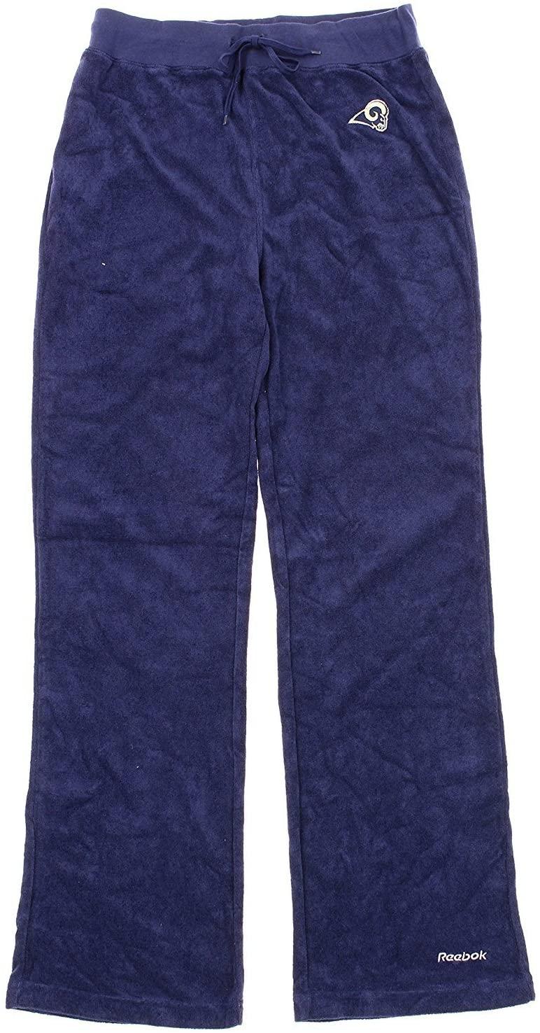 Reebok Los Angeles Rams NFL Womens Terry Cloth Pants, Navy