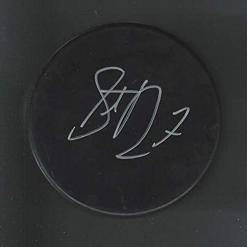 Steve Downie Autographed Hockey Puck - Blank Pittsburgh Penguins Avalanche - Autographed NHL Pucks