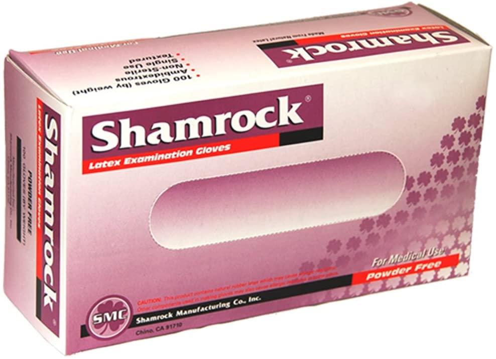 Shamrock 10112-M-cs Medical Grade Examination Glove, 4.5 mil -5 mil, Powder-Free, Textured, Natural Rubber Latex, Non Sterile, Medium, Natural (Pack of 1000) by SMC