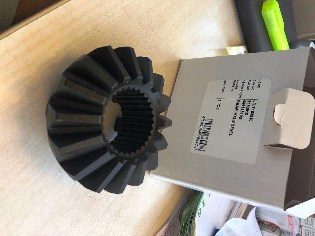 T163810 Axle Bevel Gear Aftermarket for John Deere Backhoe Sub. No. 4461351061
