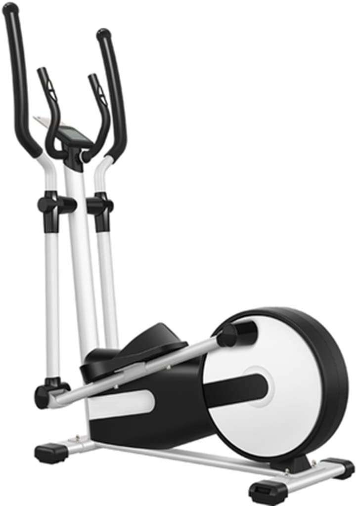 YHM Elliptical Trainers, Adjustable Handle, Adjustable Step Width, Thin Waist, Slim Arms, Raise Hips, Leg Shaping, Hand Holding Heart Rate Test (Color : Black and White)