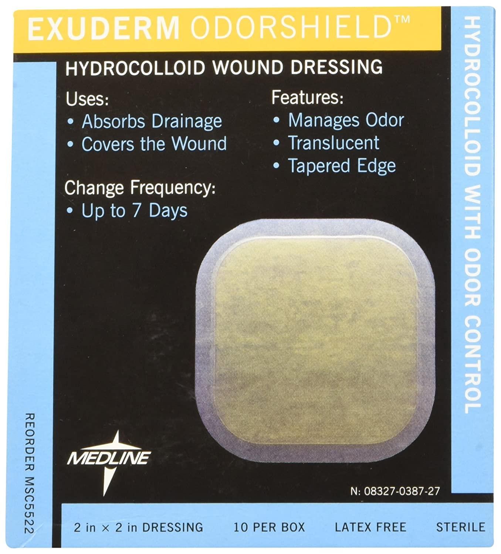 Medline MSC5522 Exuderm Odorshield Hydrocolloid, 2