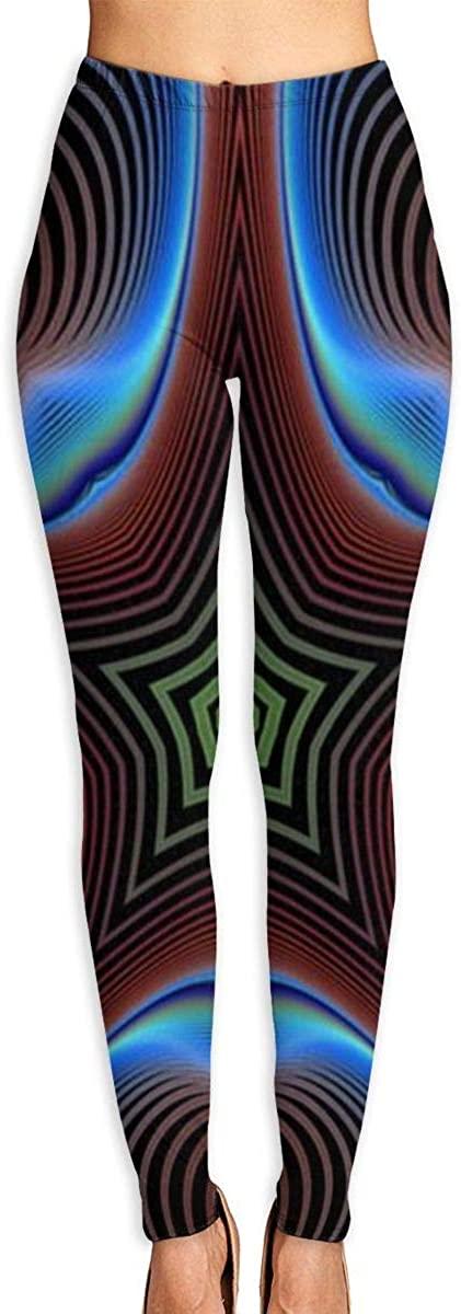XIKEWL Women's Yoga Pants Kaleidoscope Multicolor Mosaic Workout Stretchy Light Sport Leggings
