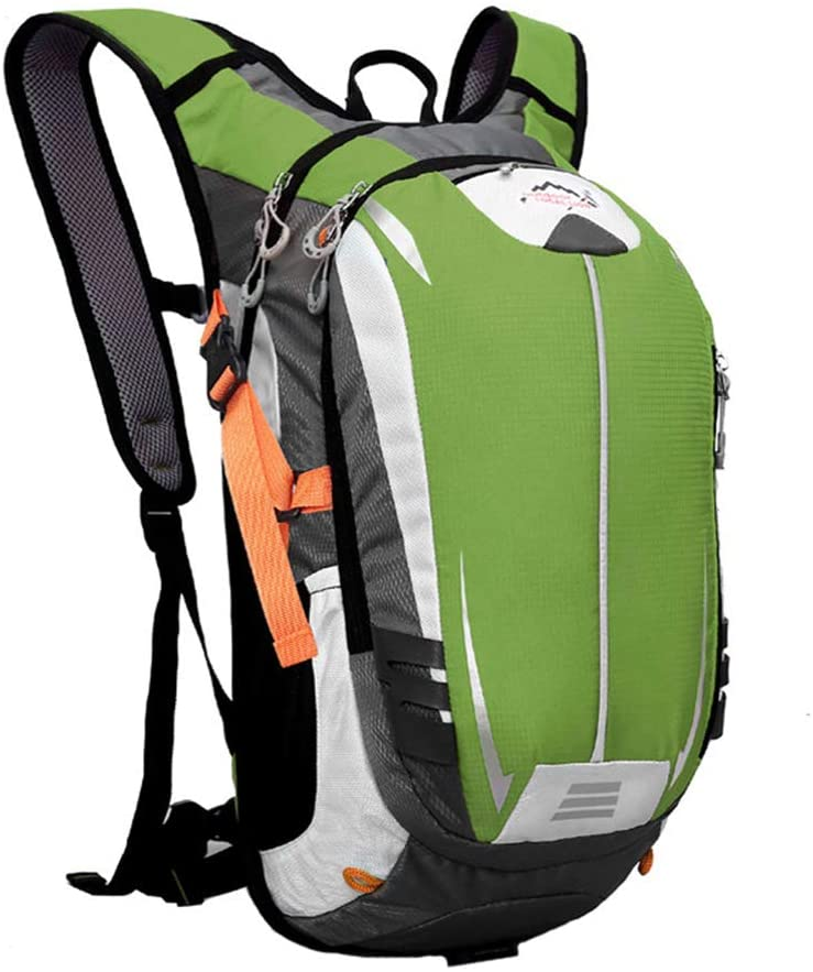 Maserfaliw Climbing Bags, Cycling Backpack,18L Outdoor Bicycle Bike Waterproof Breathable Cycling Climbing Hiking Backpack - Green
