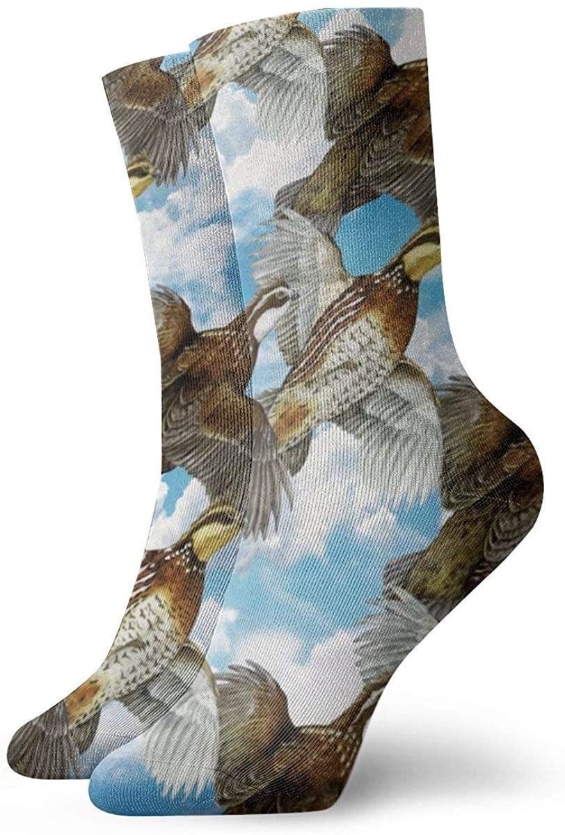 Game Life Crew Socks Quail Birds Men Women Sock Casual Socks