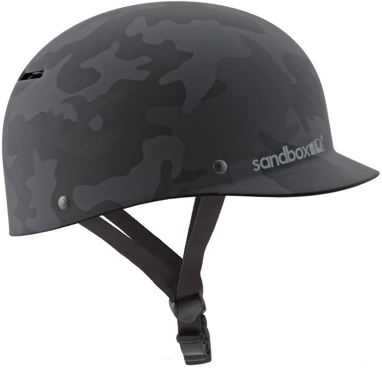 SANDBOX Classic 2.0 Low Rider Wake Helmet (Matte Black Camo, Large)