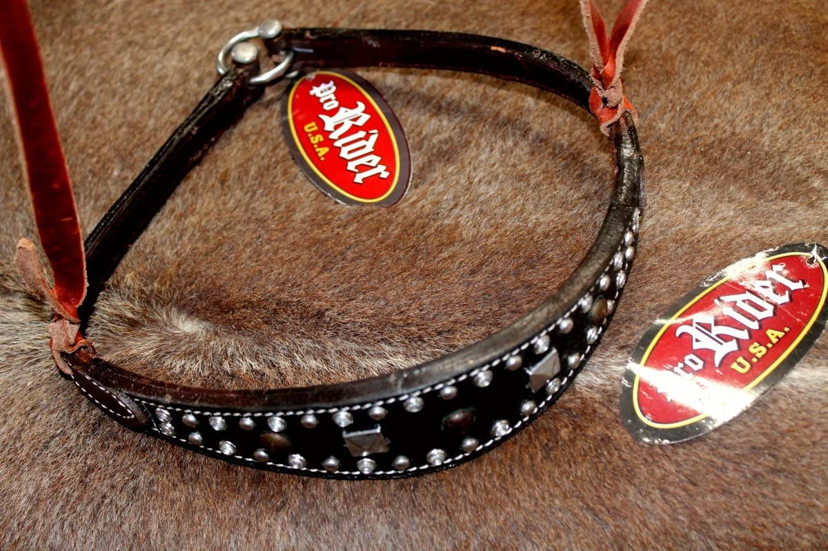 PRORIDER Horse Show Bridle Western Leather Barrel Racing Tack Rodeo Noseband 99178