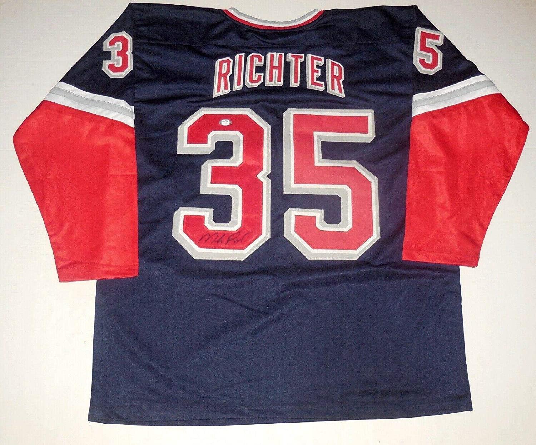 Mike Richter Signed Jersey - Custom) - ! - PSA/DNA Certified - Autographed NHL Jerseys